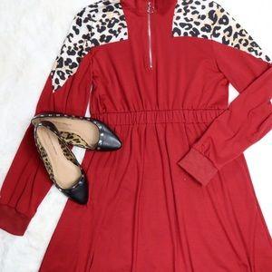 Leopard Panel Dress